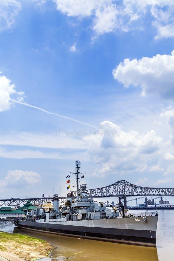 Nave USS Kidd (DD-661) del museo en Baton Rouge fotos de archivo