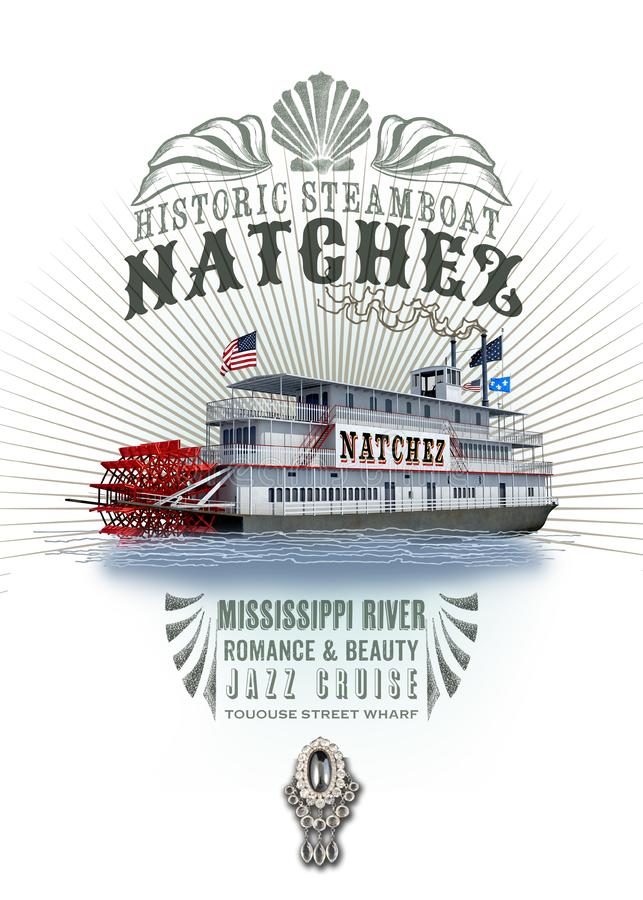 Nave a vapore Natchez della raccolta della cultura di New Orleans royalty illustrazione gratis