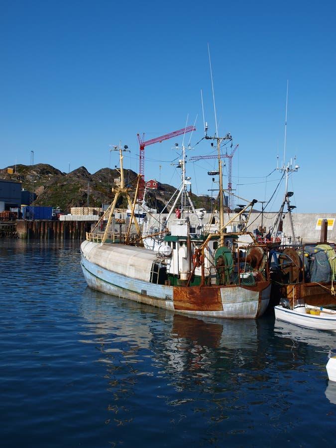 Nave vieja de la pesca, Groenlandia. fotos de archivo libres de regalías