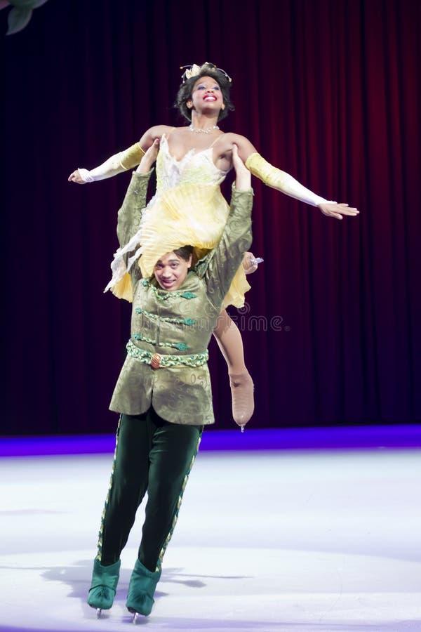 naveen王子和Tiana公主 免版税图库摄影