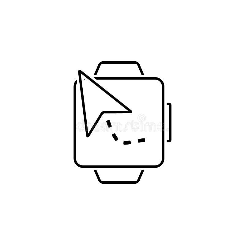 Navegação, ícone do relógio Elemento do ícone da navegação da Web para apps móveis do conceito e da Web A navegação detalhada, íc ilustração do vetor
