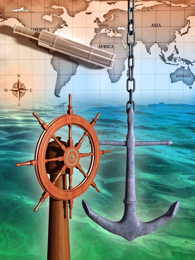 Navegação ilustração royalty free