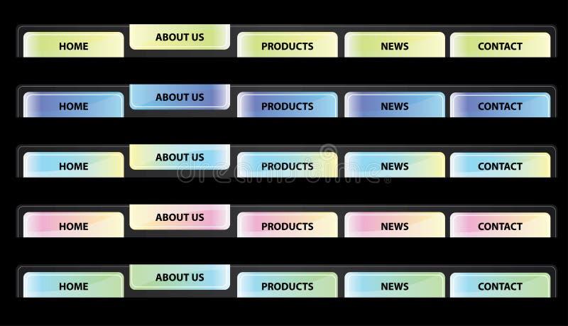 Navegação da tecla do Web site - vetor ilustração stock
