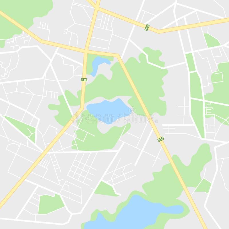 Navegação do mapa da cidade ilustração do vetor