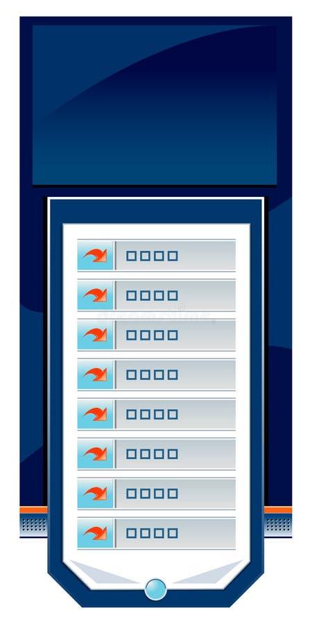 Navegação Editable do Web site ilustração stock