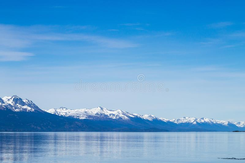 Navegação no canal do lebreiro, paisagem bonita de Argentina foto de stock royalty free