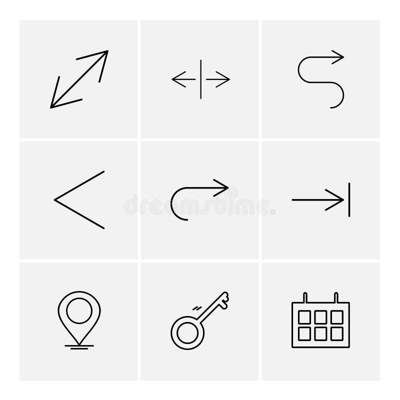 navegación, calendario, flechas, direcciones, avatar, transferencia directa stock de ilustración