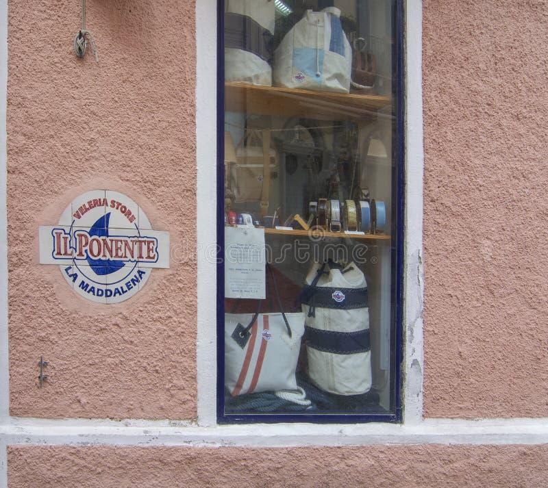 Navegación de la exhibición de la ventana de la tienda y del estilo marino fotos de archivo libres de regalías