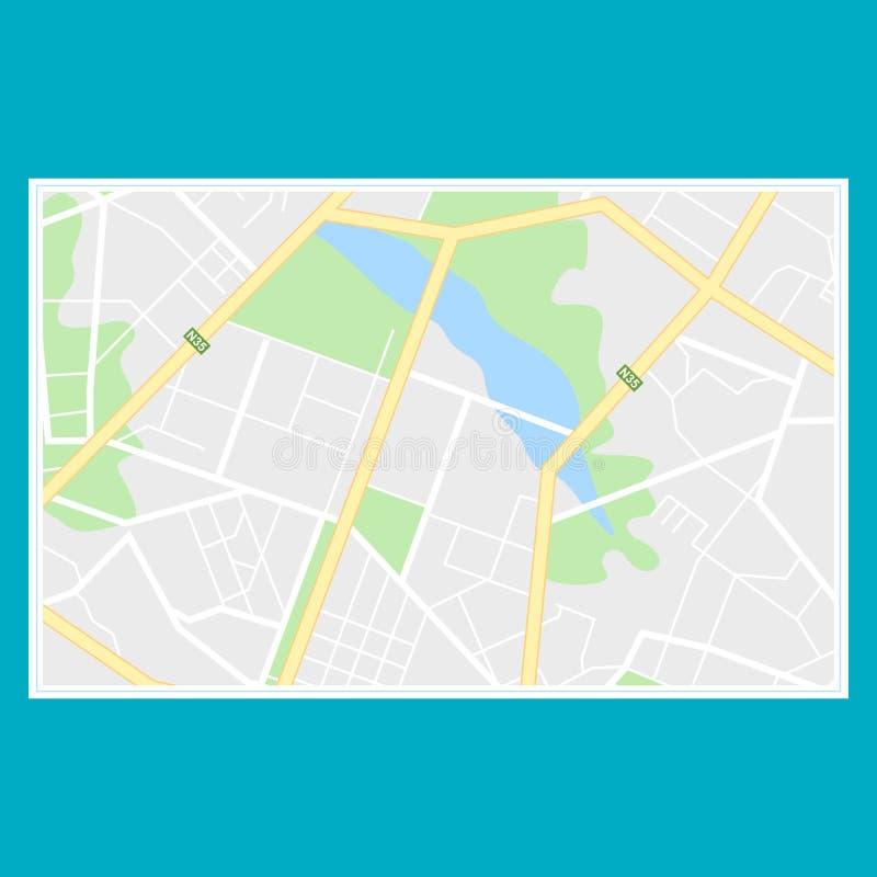 Navegación del mapa de la ciudad stock de ilustración