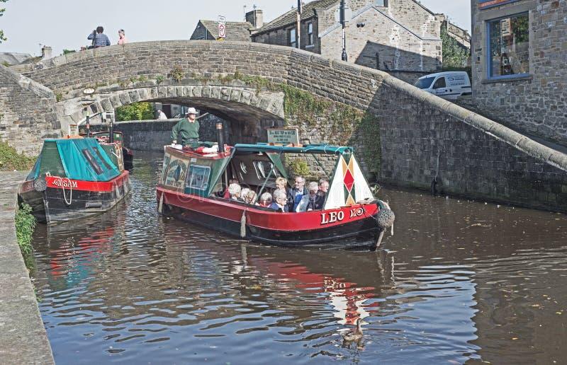 Navegación en el canal de Leeds y de Liverpool fotografía de archivo libre de regalías