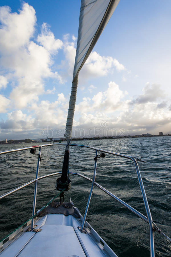 Navegación en San Juan Bay imagenes de archivo