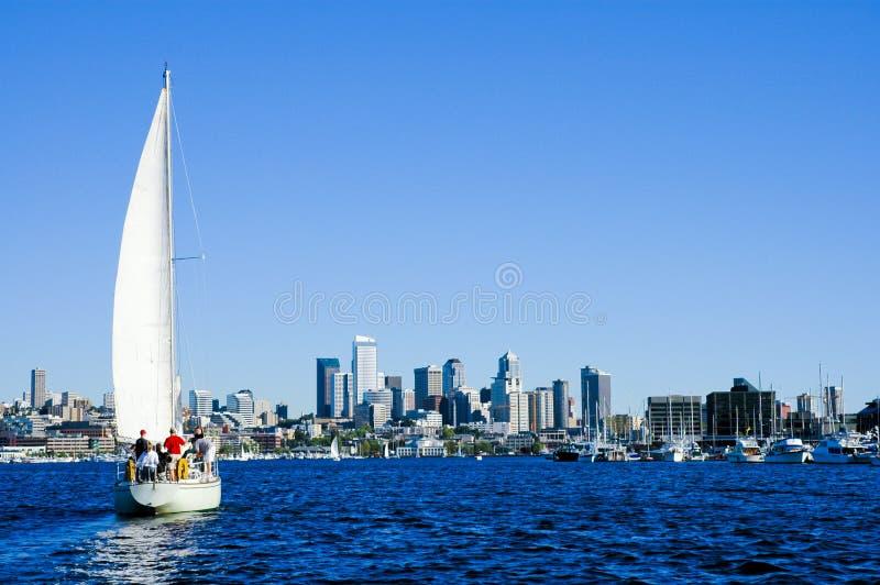 Navegación en Seattle imagen de archivo