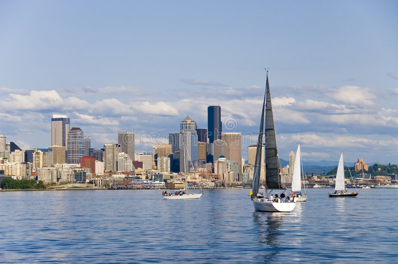 Navegación en Seattle fotos de archivo libres de regalías
