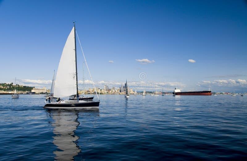 Navegación en Seattle imágenes de archivo libres de regalías