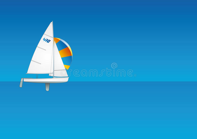 Navegación. Fondo del barco de vela. stock de ilustración