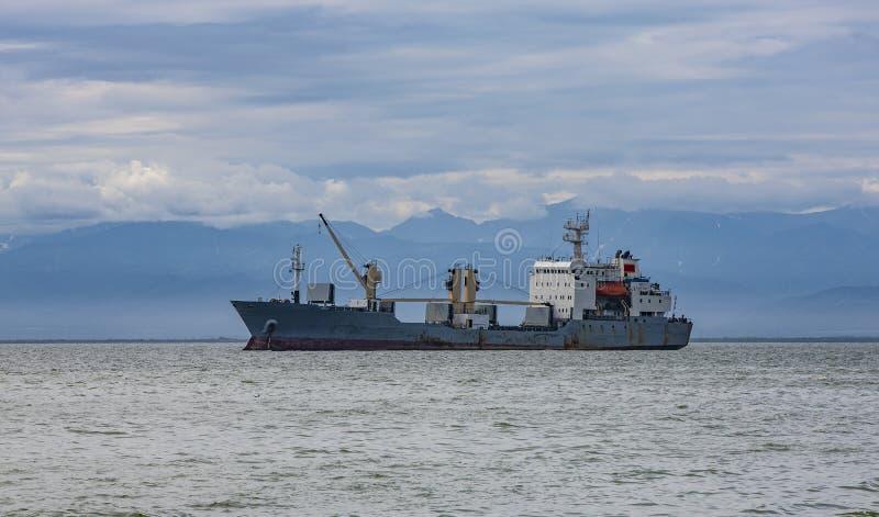 Navegación grande de la nave del contenedor para mercancías fotos de archivo