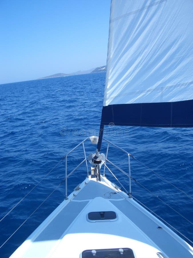 Navegación a la costa fotografía de archivo