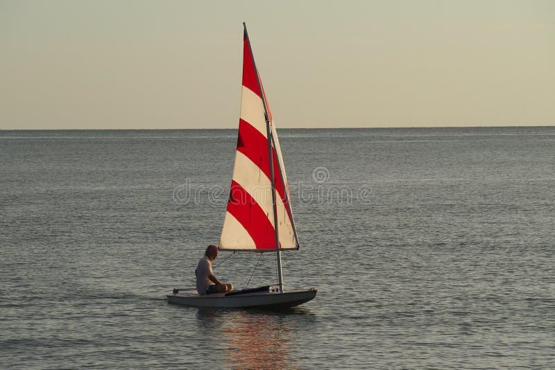 Navegación mayor activa en la puesta del sol de la isla de Captiva imágenes de archivo libres de regalías