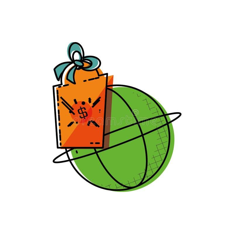Navegador da esfera com suspensão comercial ilustração do vetor