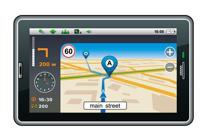 Navegador de GPS. ilustración del vector