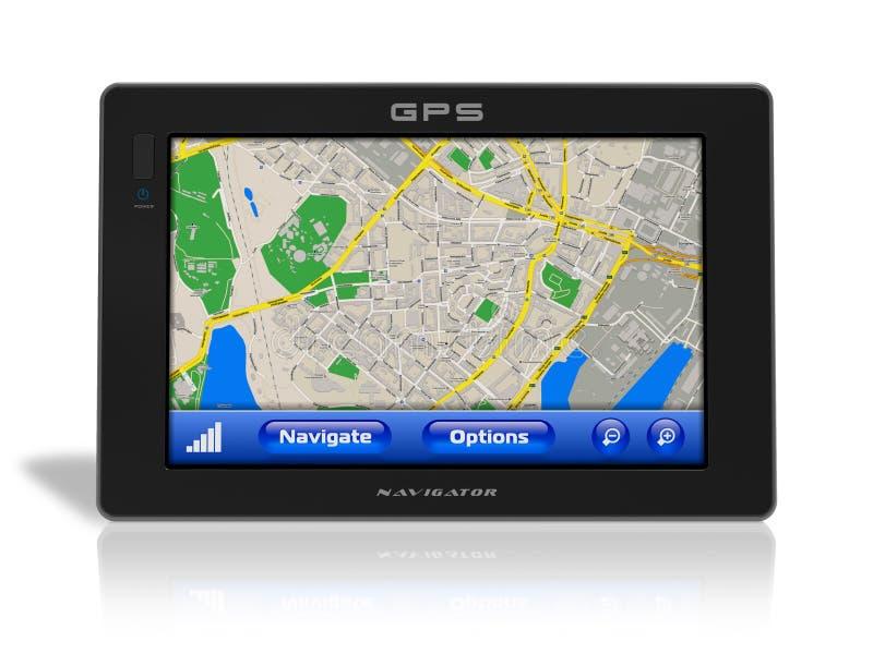 Navegador del GPS ilustración del vector