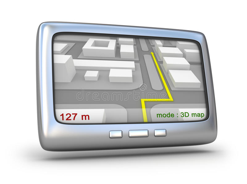 Navegador del GPS y correspondencia 3D libre illustration