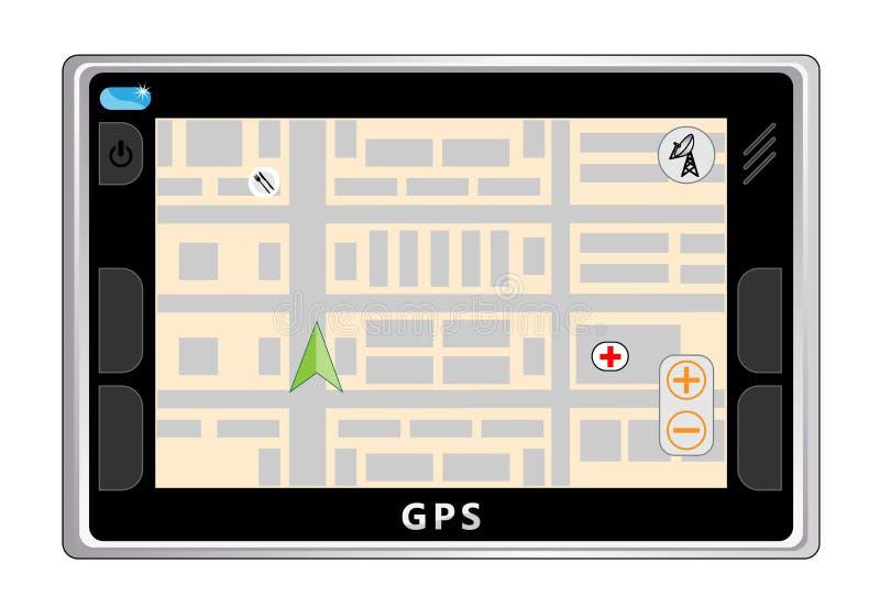 Navegador do GPS ilustração do vetor
