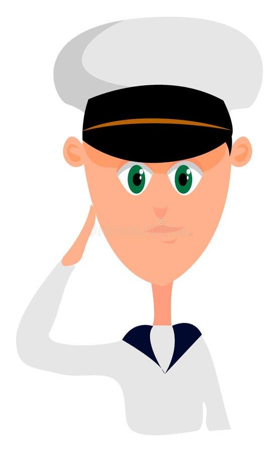 Navegador joven, ilustración, vector stock de ilustración