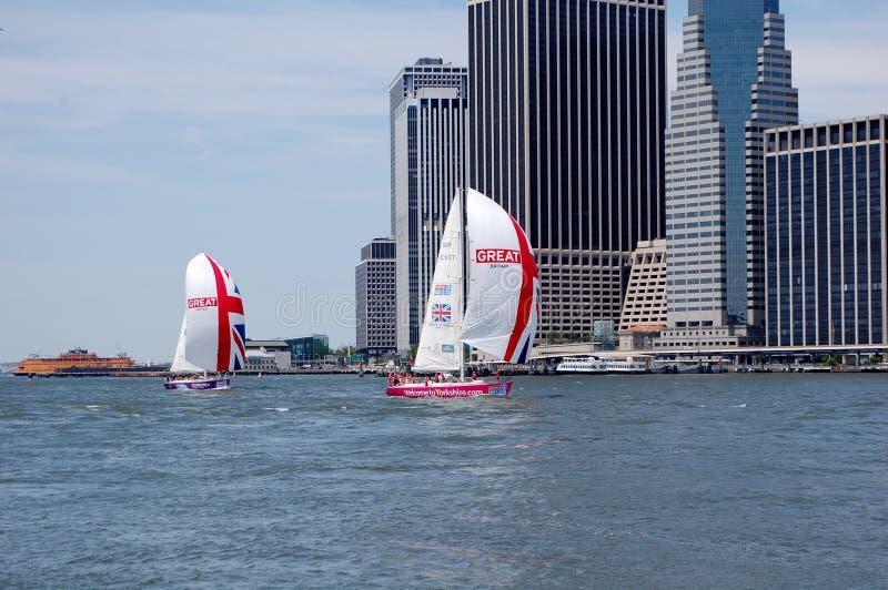 Naves de Británicos en New York City fotografía de archivo
