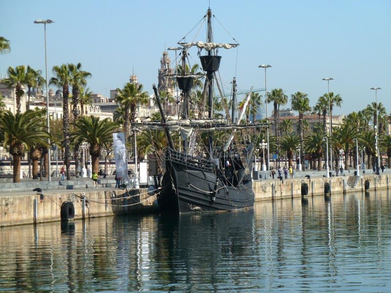 Naves de Christopher Columbus foto de archivo