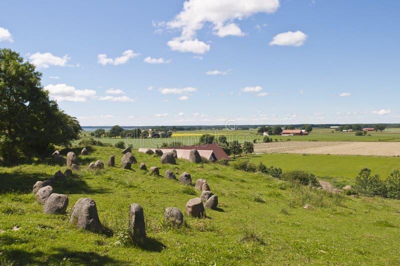 Naves de la piedra en paisaje imagen de archivo libre de regalías