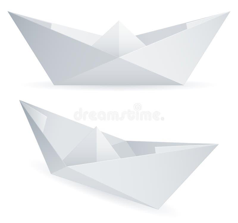 Naves del papel. ilustración del vector