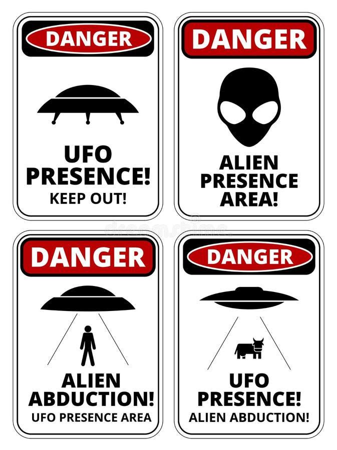 Naves del UFO stock de ilustración