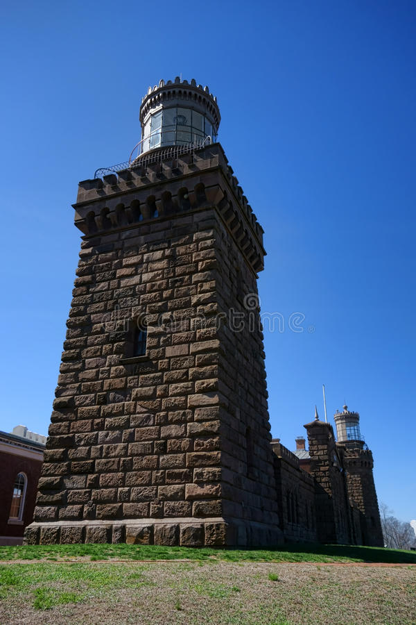 Navesink Twin Lights Old Lighthouse in New Jersey stock images