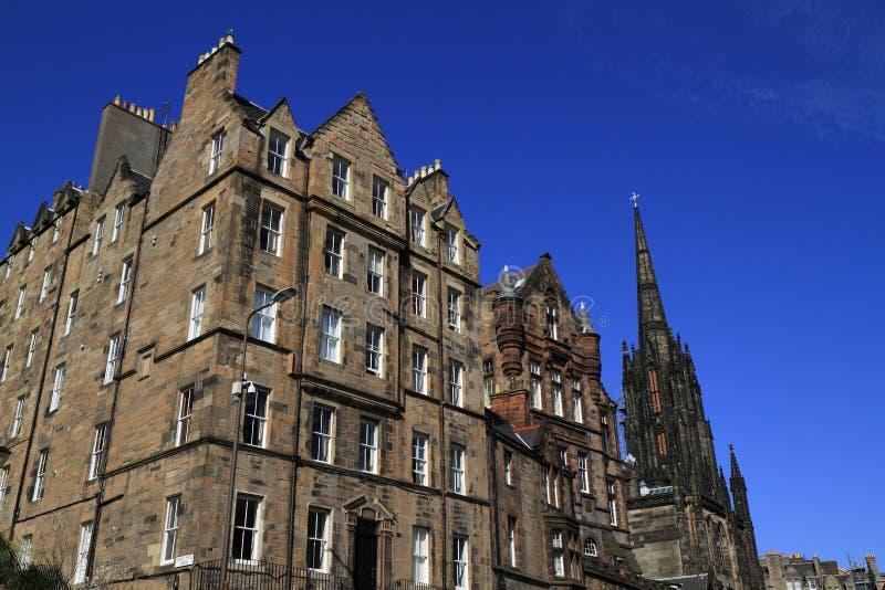 Navet upptill av Edinburg kungliga mil, Skottland royaltyfri fotografi