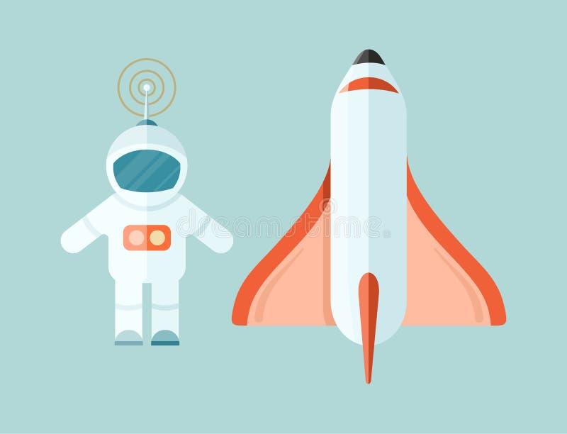 Navetta spaziale e pagina Web di astronomia royalty illustrazione gratis