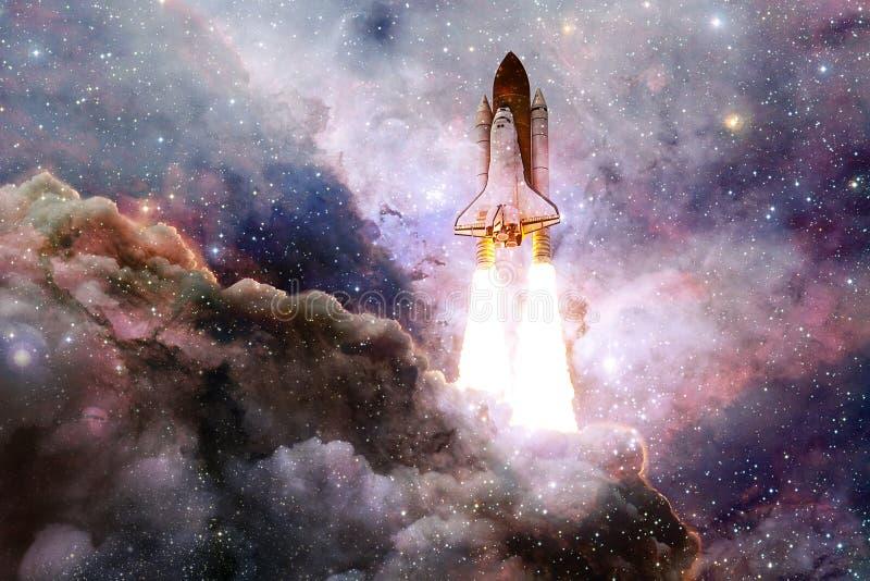 Navette spatiale d?collant sur une mission illustration de vecteur