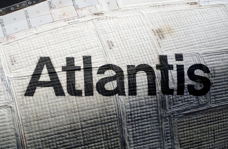Navette spatiale de l'Atlantide chez Kennedy Space Center image stock