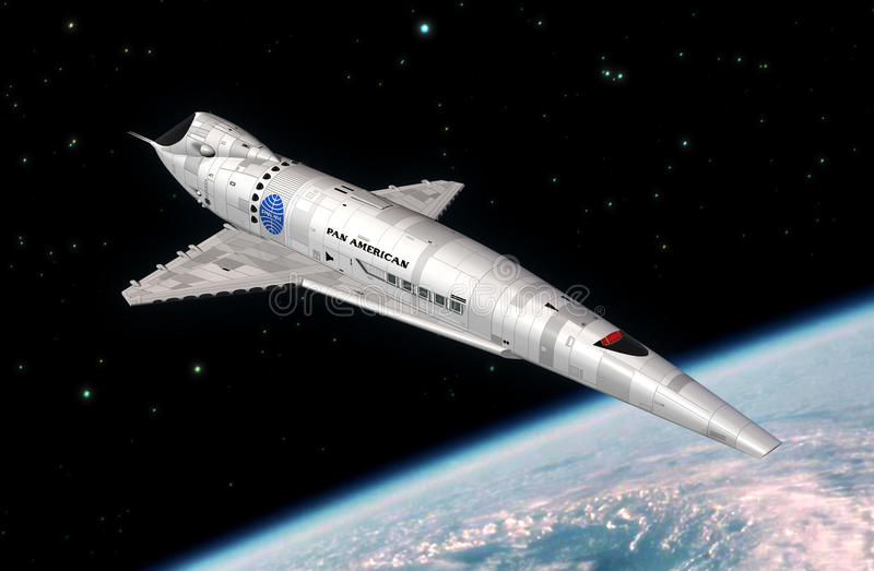 Navette spatiale de vaisseau spatial illustration de vecteur