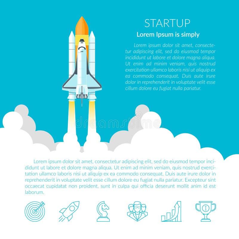 Navette spatiale (texte) illustration de vecteur
