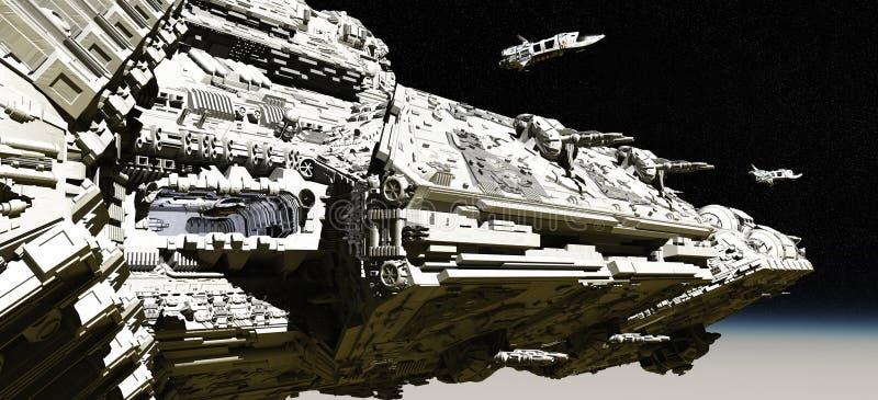 Navi di spiegamento dell'esploratore dell'incrociatore di battaglia royalty illustrazione gratis