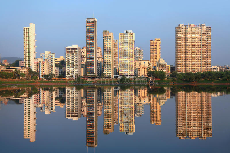 Navi Mumbai. India - 6 December 2015:  is planned suburb built across sea on main land to reduce Mumbai congestion stock photography