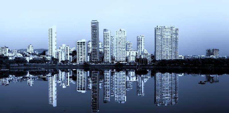 Navi Mumbai, India. 6 December 2015: Navi Mumbai is planned suburb built across sea on main land to reduce Mumbai congestion royalty free stock image
