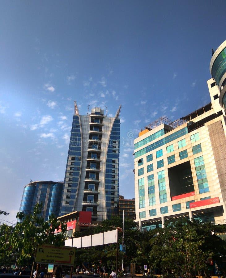 Navi Mumbai linii horyzontu metra miasta biur centra handlowe zdjęcie stock