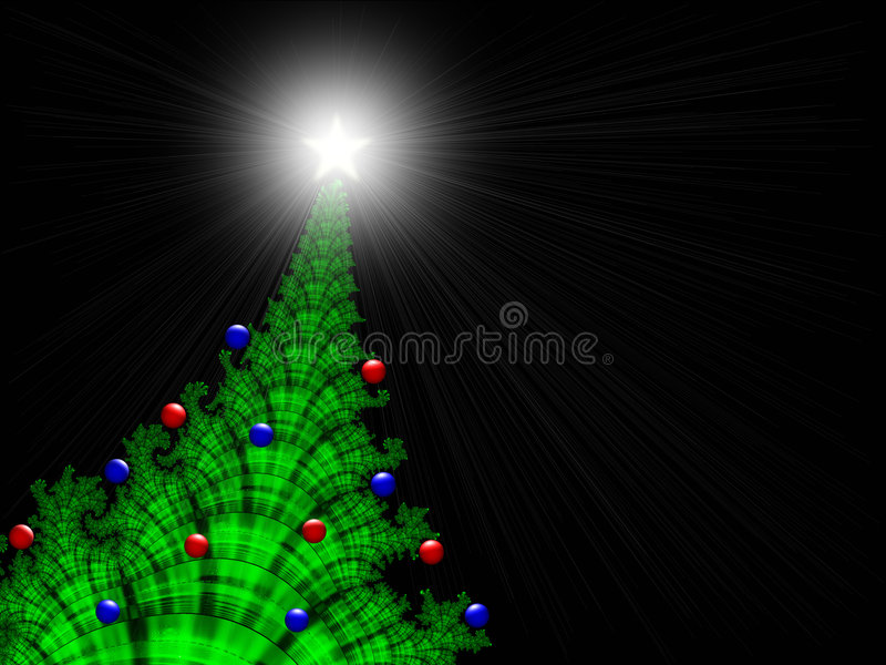 Navidad-Árbol con los Navidad-Ornamentos ilustración del vector