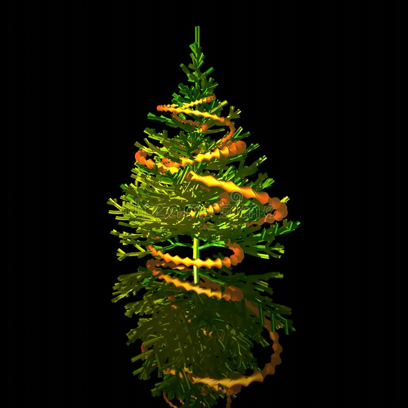 Navidad-árbol. imagen 3D ilustración del vector