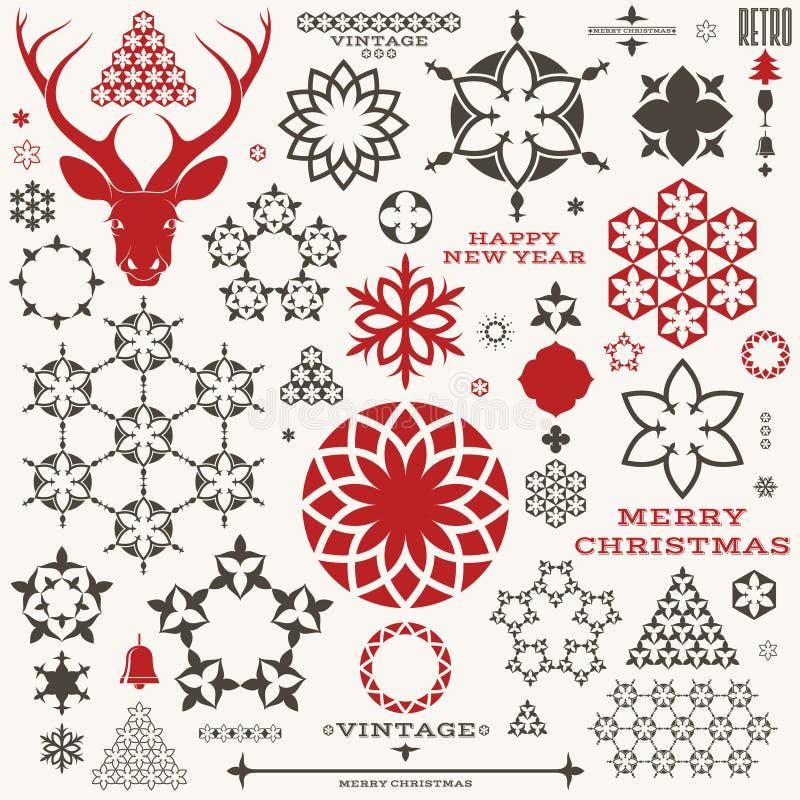 Navidad Año Nuevo vendimia libre illustration