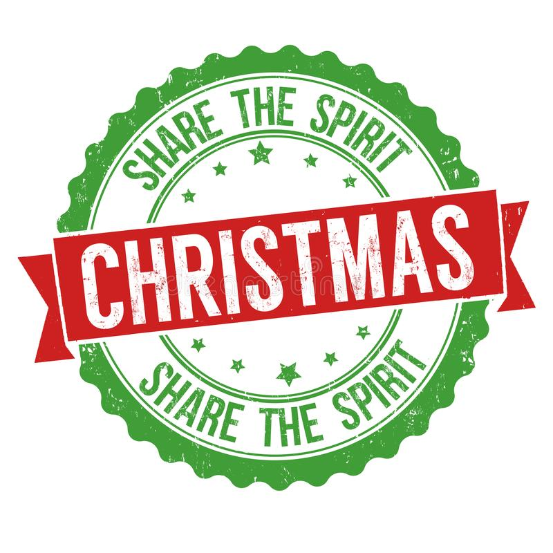 Navidad Comparta la muestra o el sello del alcohol libre illustration