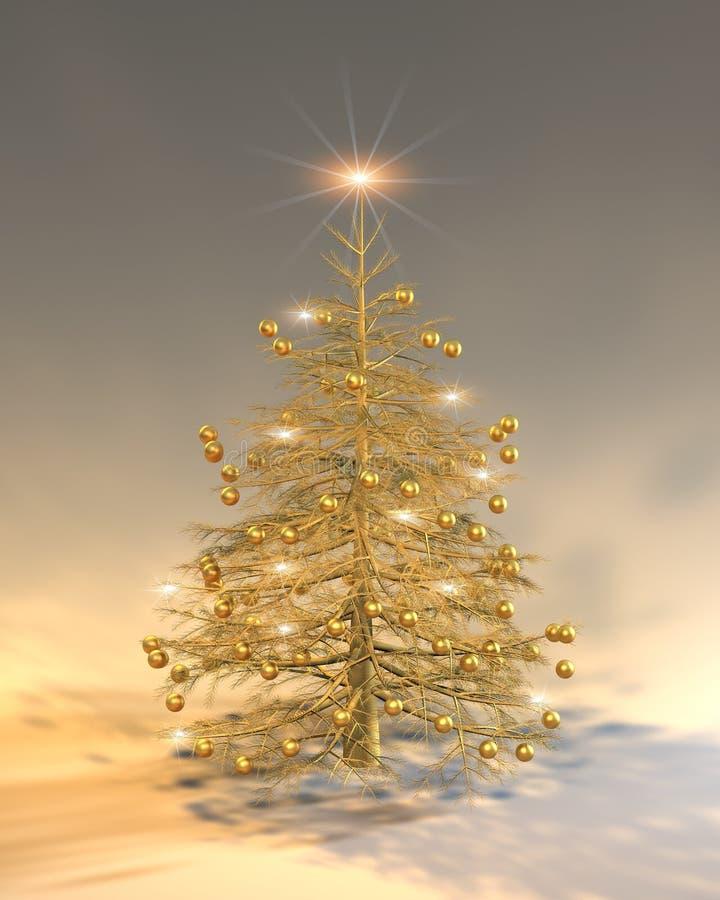 Navidad de oro stock de ilustración