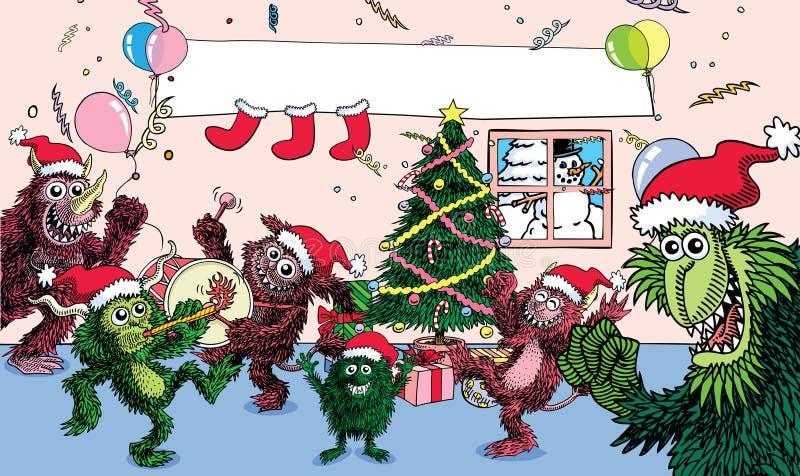 Navidad del monstruo libre illustration
